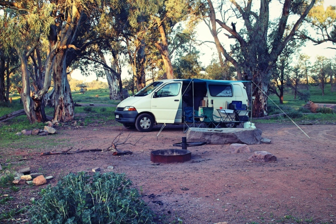 Campsite at Trezona, Flinders Ranges, South Australia