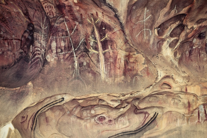 More indigenous cave painting at Arkaroo Rock, Flinders Ranges, South Australia