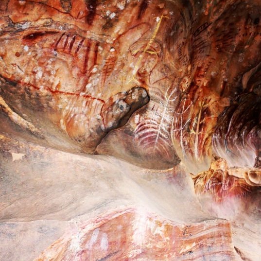 Indigenous cave painting at Arkaroo Rock, Flinders Ranges, South Australia