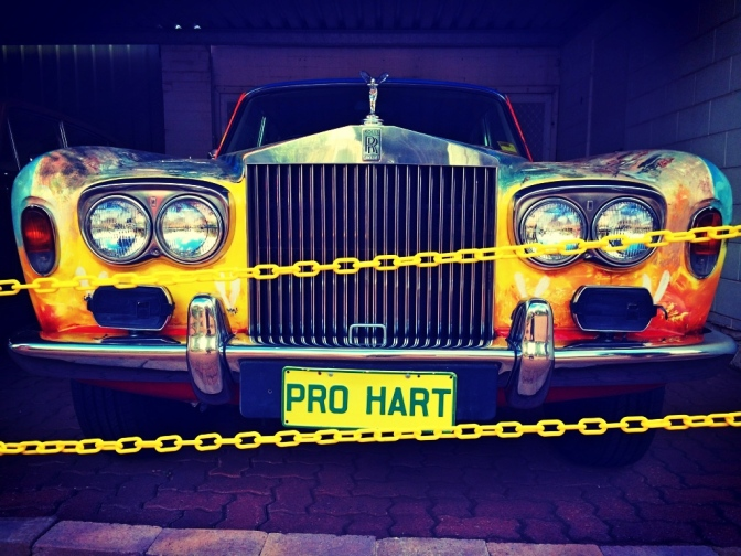 Pro Hart Rolls Royce with Australiana motif