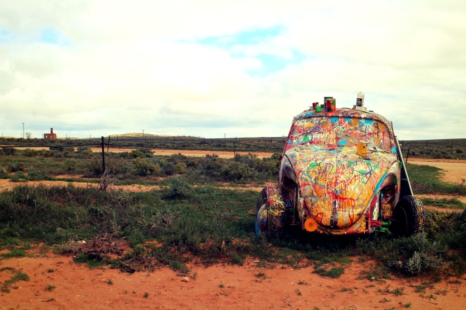 Vintage Beetle with colourful makeover in Silverton New South Wales