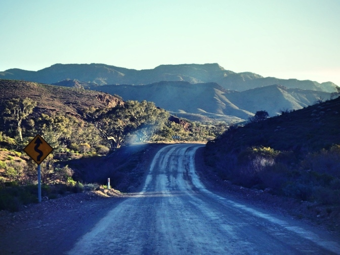 Winding road out of Blinman, Flinders Ranges