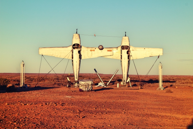 Planehenge sculpture, Oodnadatta Track, South Australia