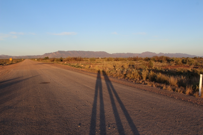 Shadow selfie, Parachilna, South Australia