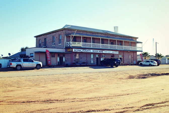 Exterior shot of Maree Hotel, Maree, South Australia