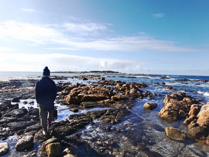 View of Lipson Cove rockpools, South Australia