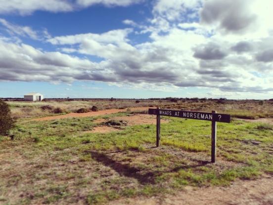 Norseman sign, Nullarbor Plain, Western Australia