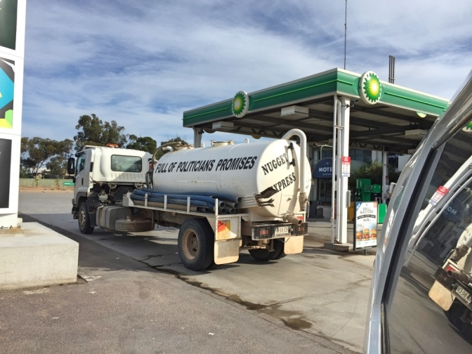 Progressive petrol tanker, Ceduna, South Australia