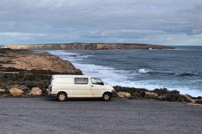 Campervan at Coffin Bay National Park, South Australia