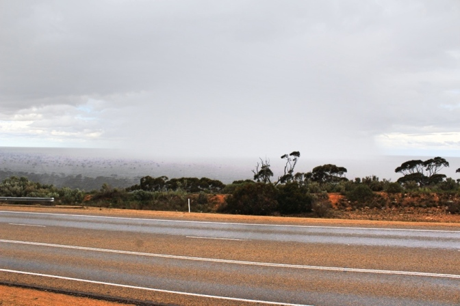 Nullarbor rain storm, Western Australia