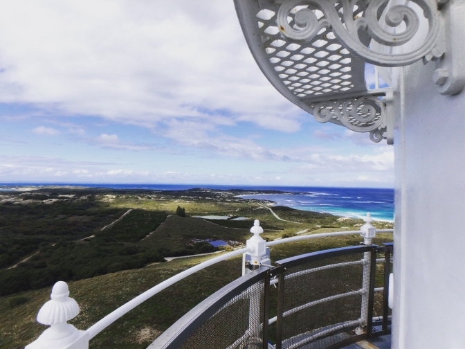 Lighthouse view over Rottnest Island Western Australia