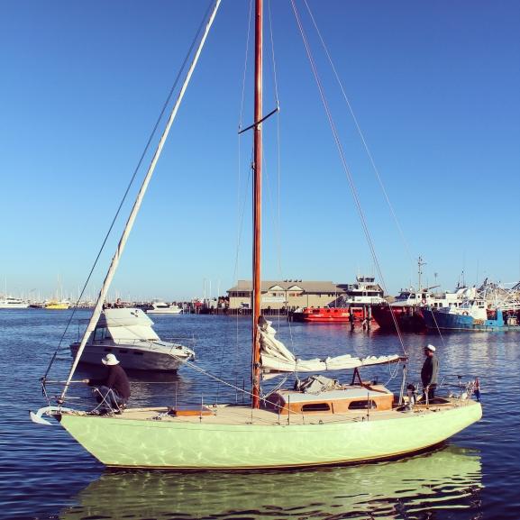 Sailing boat, Fremantle marina, Perth  Western Australia