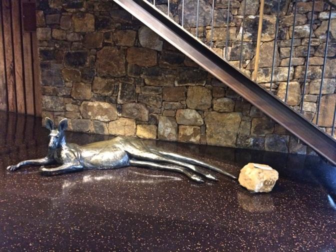 Kangaroo sculpture, Vasse Felix, Margaret River Western Australia