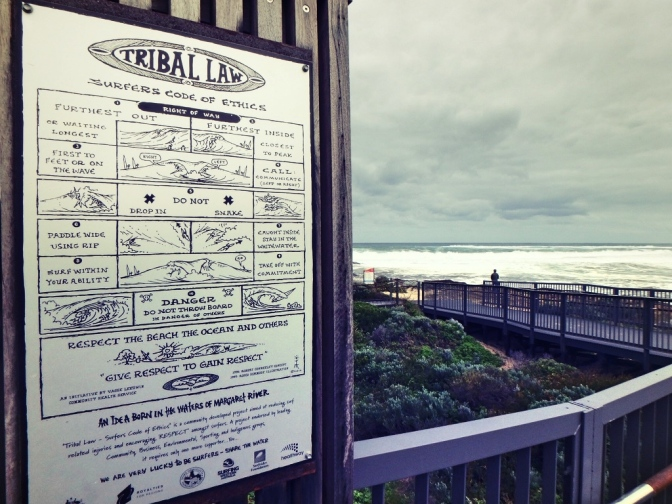 Surfer code of ethics, Margaret River, Western Australia
