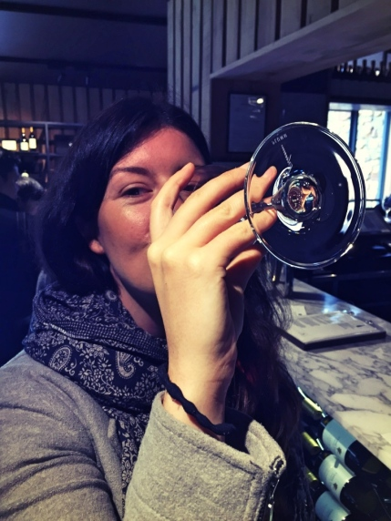 Drinking wine, Vasse Felix, Margaret River WA