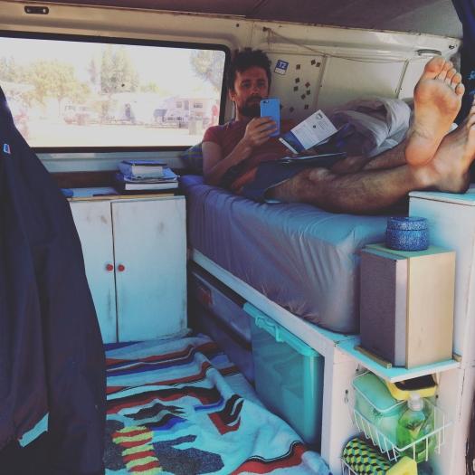 Campervan interior, Exmouth, Western Australia