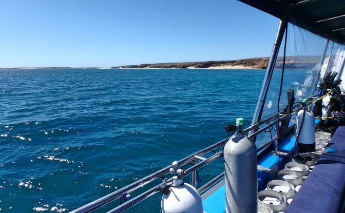 Muiron Islands from dive boat, Western Australia