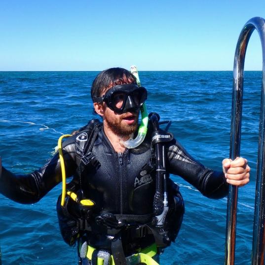 Diver, Ningaloo Reef, Western Australia
