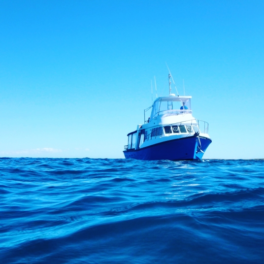 Keto dive boat on Ningaloo reef, Western Australia