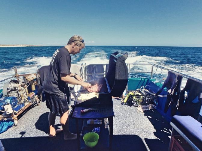 Boat BBQ, Ningaloo Reef, Western Australia