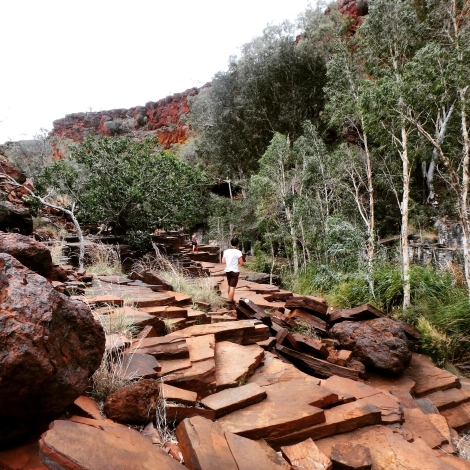 Rockfall, Karijini National Park, Western Australia