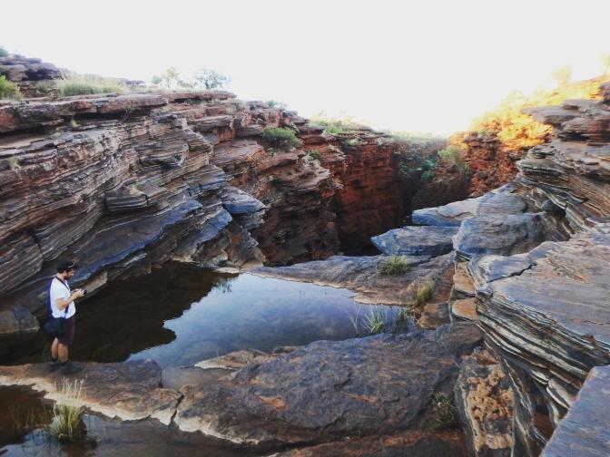 Top of Joffre Falls, Karijini, Western Australia