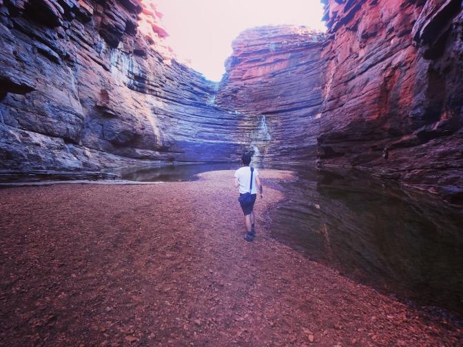 Bottom of Joffre Falls, Karijini, Western Australia