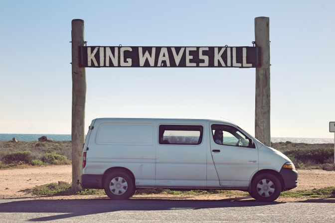 King waves kill sign Quobba Western Australia