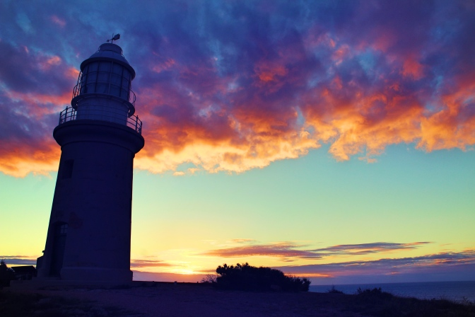 Lighthouse sunset, Cape Range National Park, WA