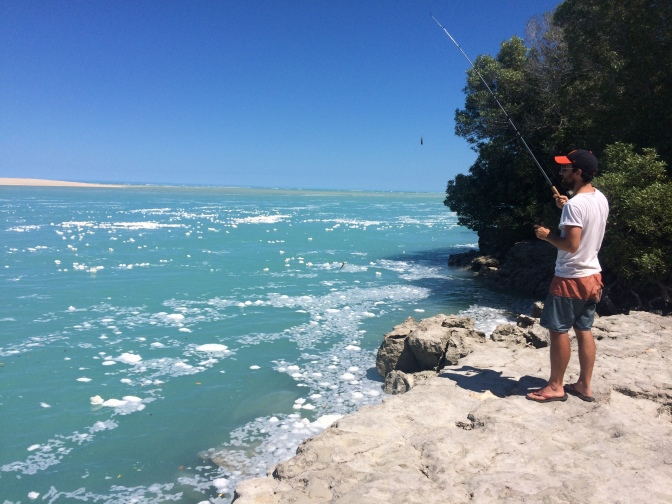 Fishing at Willie Creek Pearl Farm, Western Australia
