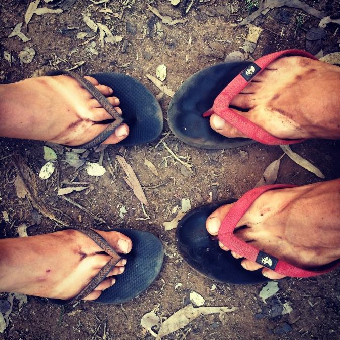 Dirty feet, Halls Creek, Western Australia