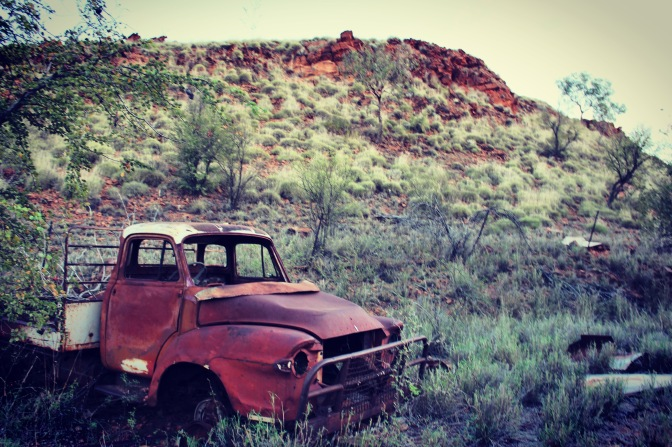 Rusted car, Palm Springs, Halls Creek, Western Australia
