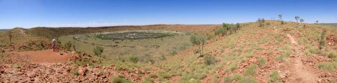 Wolfe Creek Meteorite Crater panorama, Western Australia