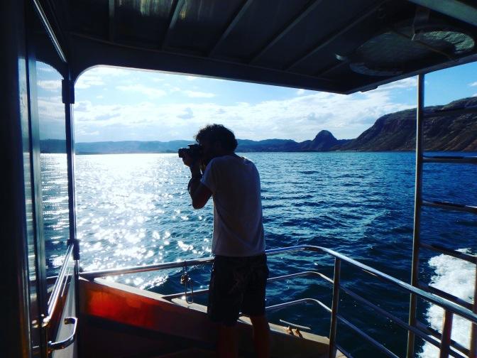 Photographing Lake Argyle, Western Australia