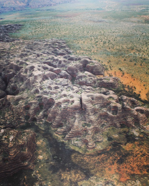 Looking down on Bungle Bungle beehives, Purnululu National Park, Western Australia