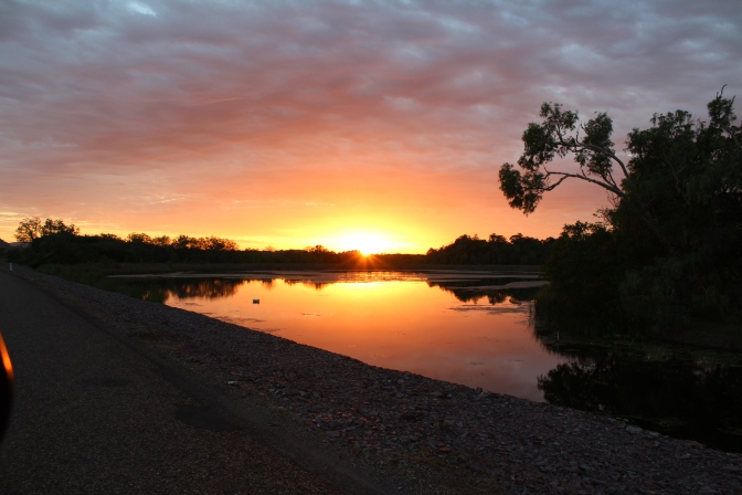 Sunset over Lake Kununurra, Western Australia