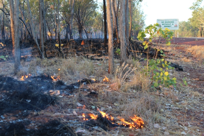 Highway bushfire Katherine Northern Territory