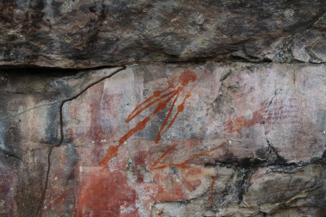 Mimi spirits rock art at Ubirr, Kakadu National Park, Northern Territory