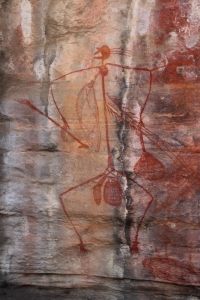 Rock art figure at Nourlangie, Kakadu National Park, Northern Territory