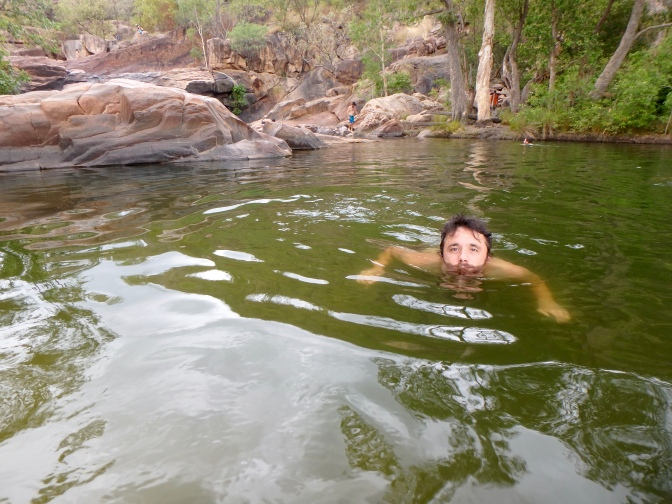 Swimming in Gunlom rock pool, Kakadu National Park, Northern Territory