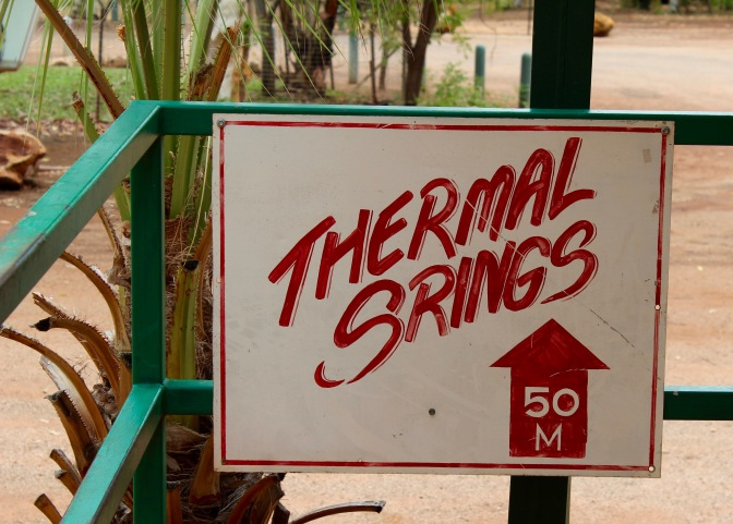 Misspelt sign, Mantaranka Springs, Northern Territory