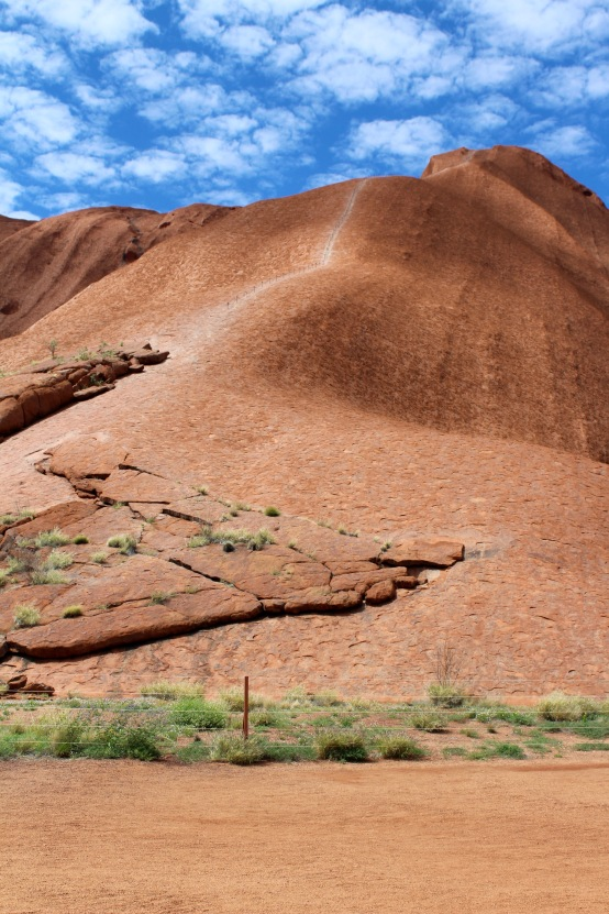 Summit trail line on Uluru Northern Territory