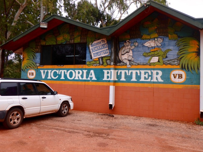 Victoria Bitter mural, Mantaranka Springs, Northern Territory