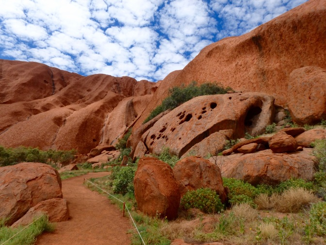 Uluru with boulders Northern Territory