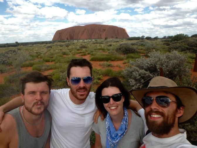 Uluru selfie Northern Territory