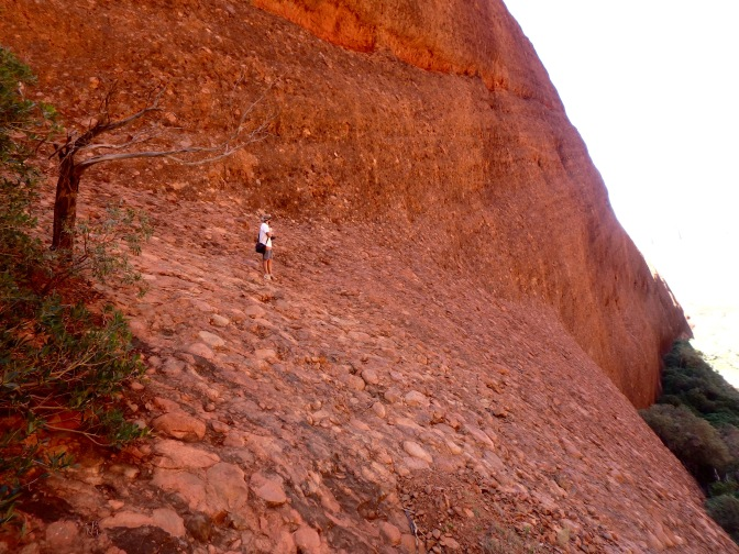 Man standing on rock ridge Kata Tjuta Northern Territory
