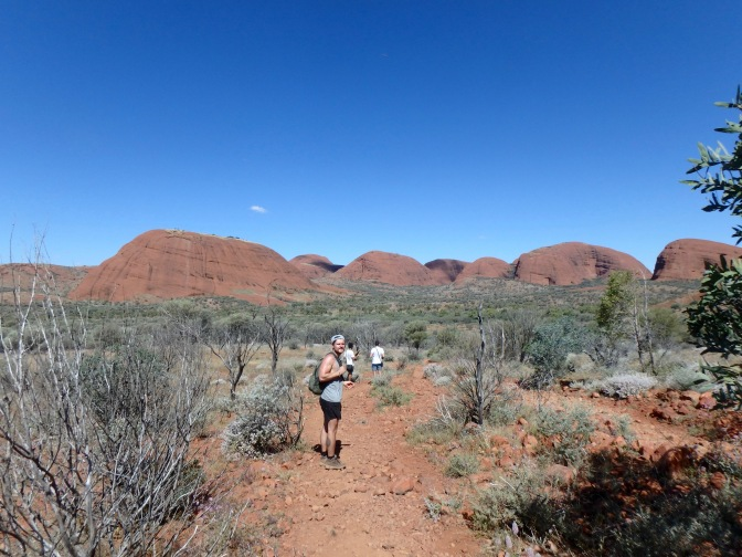 Hiking through Kata Tjuta Northern Territory