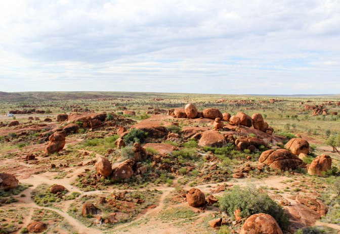 Devil's Marbles, Karlu Karlu from above, Northern Territory, Australia