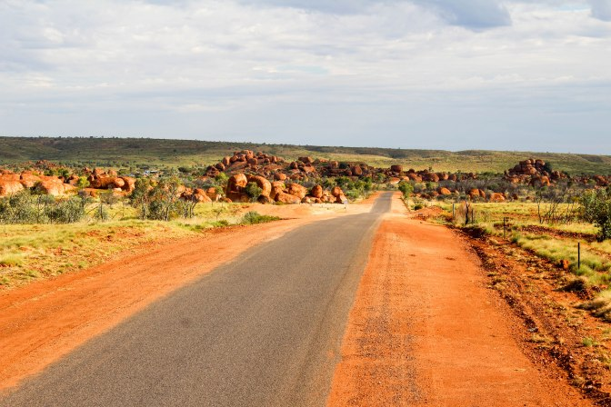 Devil's Marbles road, Red Centre, Northern Territory, Australia