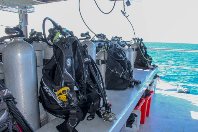 Dive apparatus, Great Barrier Reef, Queensland